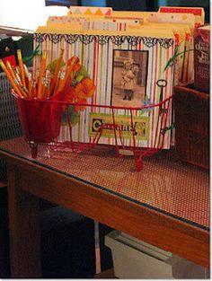An inexpensive way to organize your desktop - Fun Fourth Grade Collaboration Classroom