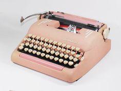 pretty pink typewritter