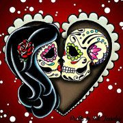 Pretty In Ink Day of the Dead Art Jewelry & by PrettyInInkJewelry