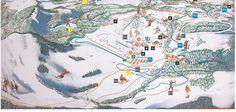 Pisteplan Skigebied Postalm Arena am Wolfgangsee 1994-1995-1997