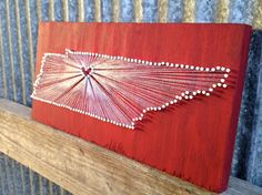 Tennessee Love // Nail and String Tribute to The Volunteer State. $80.00, via Etsy.
