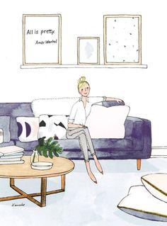 Kanako Illustratrice Agence Marie Bastille agent d'illustrateurs Illustration des parisiennes mode beauté portraits dessins bloggeuse personnages humour