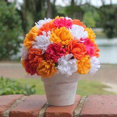 """Lines Across"": Spring Felt Flower Centerpiece"