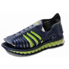 07c664dbd7f1 Stylish Mens Jeremy Scott Adidas JS MEGA Softcell Blue Sandal For  123.00