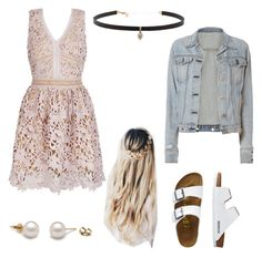 A fashion look from November 2016 featuring skater dresses, distressed denim jacket and flats sandals. Browse and shop related looks. Dressy Outfits, Hyde, Outfit Ideas, Shoe Bag, Polyvore, Summer, Stuff To Buy, Shopping, Collection