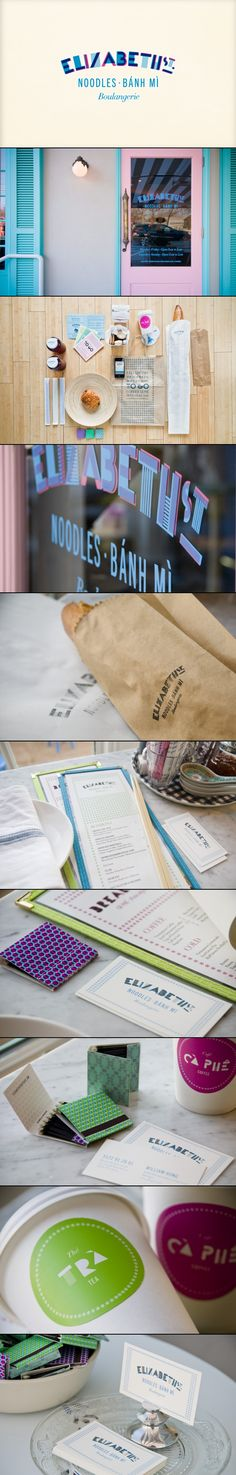 Elizabeth Street Café | FÖDA studio. I'm having noodles for lunch #identity #packaging #branding PD