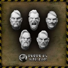 PuppetsWar Cossack and Veteran Heads
