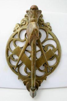 Freemason Brass Door Knocker - Aurora Mills Architectural Salvage Whoa! cool!