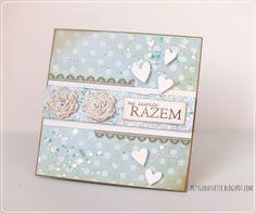 dots & flowers / wedding card