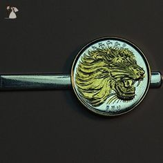 Ethiopia Lion- Gorgeous2-Toned Gold on Silver coin Tie Clip - Groom cufflinks and tie clips (*Amazon Partner-Link)
