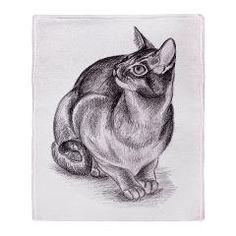 grey cat Throw Blanket > grey cat > mindgoop