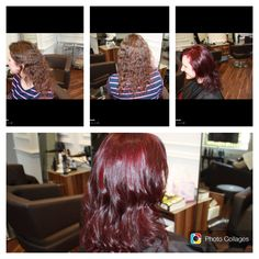 Vibrant colour change - before and after . Ria senior stylist
