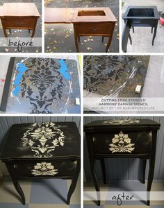 harmony-damask-stencil-diy-sewing-table-upcycled-furniture-idea