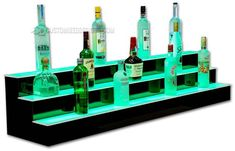 Your place to buy and sell all things handmade Liquor Shelves, Bar Counter Design, Home Bar Designs, Bar Led, Bar Displays, Man Cave Home Bar, Bar Lighting, Bars For Home, Color Pop
