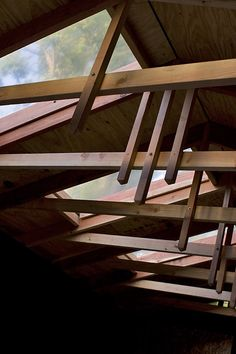 DIY roof trusses with simple style.