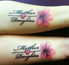 Very pretty mother & daughter tattoo