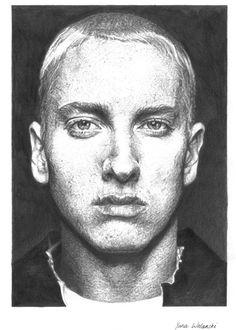 Pencil portrait of Eminem #Eminem #portrait #pencil #drawing #badboy #yanawolanski #rapper #sketch