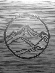 Set Forth Studio – Mountains Linocut Print in Progress // Nature series // This…