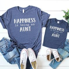 Nephew and aunt - Auntie niece matching shirts - Aunt shirt - Matching aunt and nephew shirt - Aunt shirt baby - Auntie shirts for baby Aunt And Niece Shirts, Mom And Me Shirts, Nephew And Aunt, Mommy And Son, Baby Shirts, New Aunt, Matching Shirts, Matching Outfits, Alesso