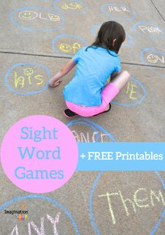 sight word games + free printables from Imagination Soup <-- love the lava pit game!