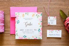 Convite P 1 ano - Gabi Floral