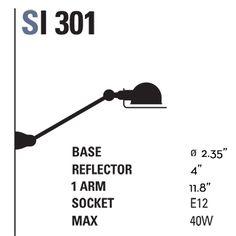 sunroom Signal 1-Arm Wall Sconce - SI301   Jielde   HORNE
