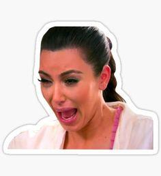 Crying Kim Pegatina