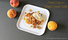 Vegan MoFo Day 25 Oh. My. Gah! This turned out so good! I MAY have eaten so much that I simply bypassed dinner last night. Oops! This decadent, but healthy, dessert features fresh ripe peaches a...