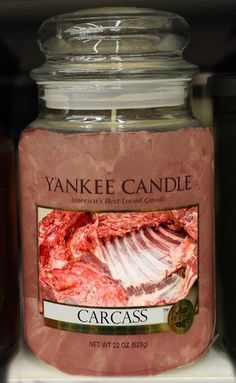 Man Candle Carcass scent! (its a joke)