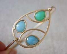 Green and blue bangle  custom size  limited offer by anthology27, $18.45