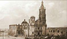 Catedral sin Casino que fue derrumbado para construir el actual. 1920