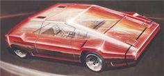 Lancia Sibilo (Bertone), 1978 - Design sketch