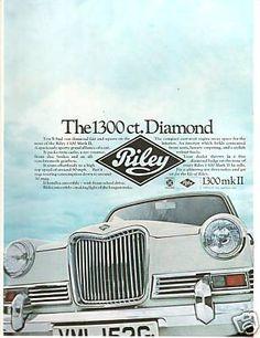 Riley 1300 mk II Rhyming Slang, British Car, Kestrel, Car Advertising, Kit Cars, Brochures, Motor Car, Specs, Classic Cars