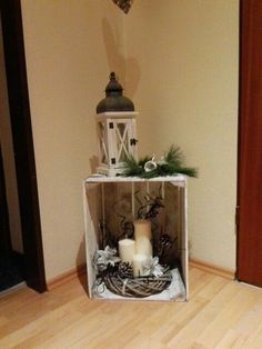 fireplace set or christmas tree in the topf .- kaminersatz oder weihnachtsbaum im topf rausstelle place a fireplace or Christmas tree in the top - Potted Christmas Trees, Outdoor Christmas, Rustic Christmas, Christmas Time, Christmas Fireplace, Christmas Centerpieces, Christmas Tree Decorations, Christmas Wreaths, Holiday Decor