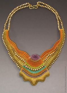 Fiber art jewelry by Joan Babcock