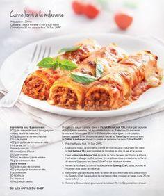 Cannellonis à la milanaise Tupperware