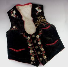 2d8e51edd49 Vintage Bavarian Embroidered Vest
