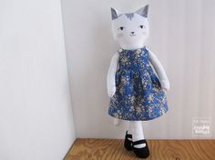 For 18 Cat Doll Pinafore Dress and by CreateJoyMakeStuff on Etsy