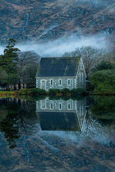 St Finbarrs Oratory Church at Gougane Barra in Cork, Ireland