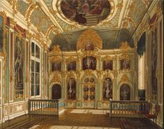 """Small Church of the Winter Palace"" by Edward Petrovich Gau (1807-1887)"