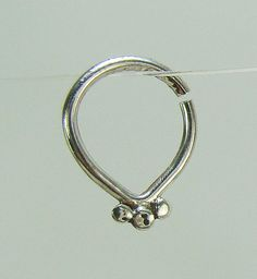 Septum ring Silver septum Tribal Silver by ShirazelohevJewelry
