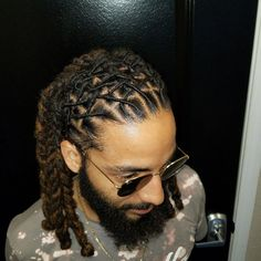 Mens Fashion Jeans – Hairstyles for men Dreadlock Hairstyles For Men, Twist Hairstyles, Hairstyles Haircuts, Mens Dreadlock Styles, Dreads Styles, Black Hair Styles Relaxed, Natural Hair Styles, Hair Twist Styles, Loc Styles For Men
