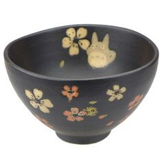 Bowl - Porcelain - Mino Yaki - made in Japan - Totoro & Sakura - Ghibli - 2015 (new)