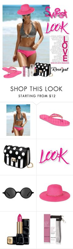 """""""Rosegal  Bikinis Contest http://www.rosegal.com/bikinis-210/?lkid=100948"""" by lorrainekeenan ❤ liked on Polyvore featuring Aerosoles, NYX, Muse, August Hat, Guerlain, This Works and Lancôme"""