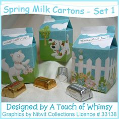 Boxes - Milk Cartons - Spring designs - go together quickly and easily