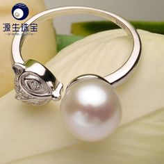 Aliexpress.com : Buy Adjustable Freshwater Pearl Rings Fashion Button Natural White Pearl Rings For Women 925 silver Jewelry Party Rings YSETB010 from Reliable ring guitar suppliers on pearls by yuansheng