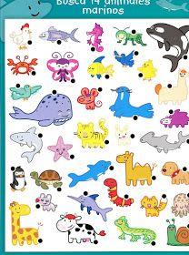 Hvilke dyr bor i havet? 3 Year Old Activities, Animal Activities, Sensory Activities, Preschool Curriculum, Kindergarten, Homeschool, Printable Numbers, Cartoon Stickers, Educational Games