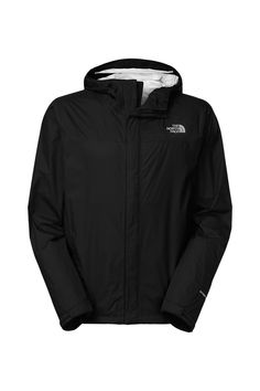 The North Face Men's Venture Jacket. Editors of Backpacker Magazine awarded this jacket recognition for its eco-conscious construction. Made of an environmentally friendly membrane, this waterproof, breathable outer layer with modern lines will protect you from rain year round. Features zippered underarm vents for maximum air flow, an attached adjustable hood with a drawcord, and a center front zip and Velcro® closure. #EscapeOutdoors #TheNorthFace #Men #Venture #Jacket