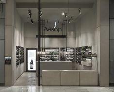 Aesop store by Tolila + Gilliland Architects, Westfield & Harrod's, London