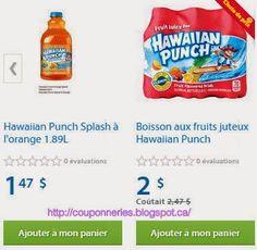 Coupons et Circulaires: 0,49$ Hawaiian Punch
